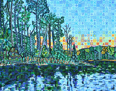 Blue Jay Painting - Sunset Over Blue Jay Point by Micah Mullen