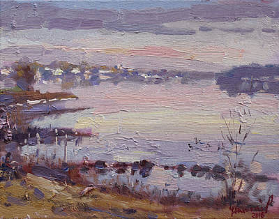 Buffalo River Painting - Sunset Over Buffalo River by Ylli Haruni
