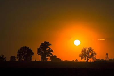 Sunset Over Farmland Print by Andrea Kappler