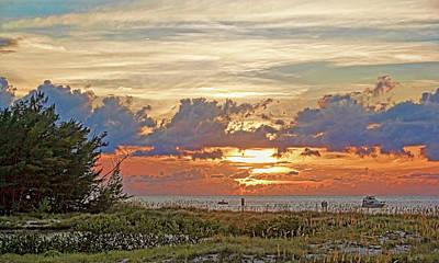 Seascape Photograph - Sunset Over Greer Island By H H Photography Of Florida  by HH Photography of Florida