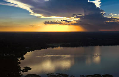 Photograph - Sunset Over Lake by Carolyn Marshall
