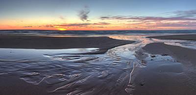 Northern Michigan Photograph - Sunset Over Lake Michigan by Twenty Two North Photography