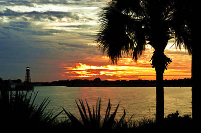 Sunset Over Lake Sumter Landing Print by Betty Eich