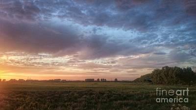 Landscape Photograph - Sunset Over Cheshire Landscape by Isabella Abbie Shores