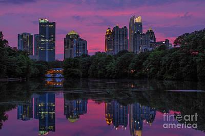 Dogwood Lake Photograph - Sunset Over Midtown by Doug Sturgess