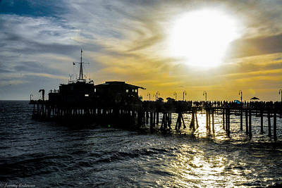 Photograph - Sunset Over Santa Monica Pier by Tommy Anderson