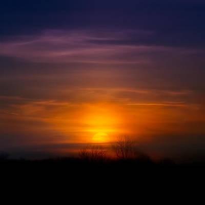 Sunset Over Scuppernong Springs Print by Scott Norris