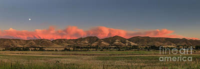 Sunset Over The Foothills Print by Robert Bales
