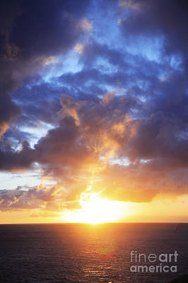 Sunset Over The Ocean Print by Brandon Tabiolo - Printscapes