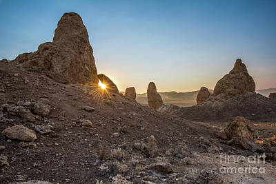 Sunset Over Trona Pinnacles In California. Print by Jamie Pham