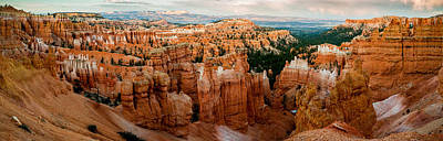 sunset Point Panoramic Print by TL  Mair