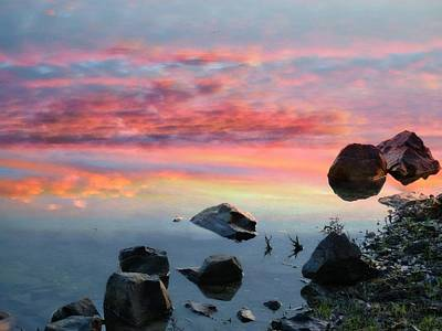 Sunset Reflection Print by Marcia Lee Jones