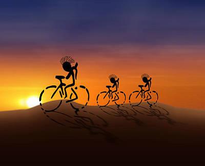 Kokopelli Digital Art - Sunset Riders by Gravityx9 Designs