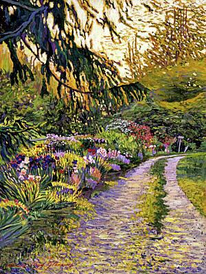 Sunset Road Impressions Print by David Lloyd Glover