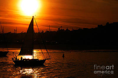 Sunset Sailing Print by Clayton Bruster