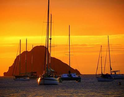 Sunset Sails Print by Karen Wiles