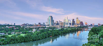 Austin Skyline Photograph - Sunset Skyline Over Austin by Tod and Cynthia Grubbs