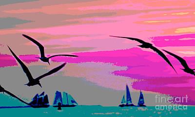 Sunset Soar And Sail Print by Judy Kay