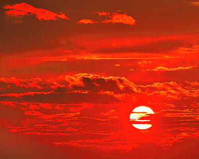 Sunset Print by Tony Beck