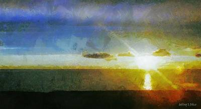 Sunset Under The Clouds Print by Jeff Kolker