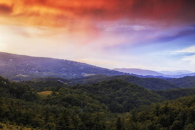 Sunset View Of The Blue Ridge Print by Andrew Soundarajan