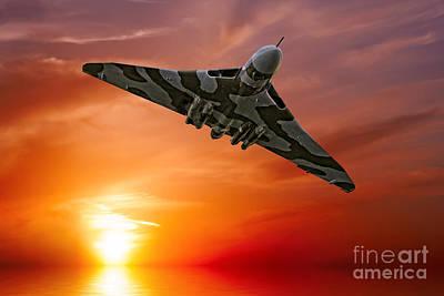 Sunset Digital Art - Sunset Vulcan by Stephen Smith