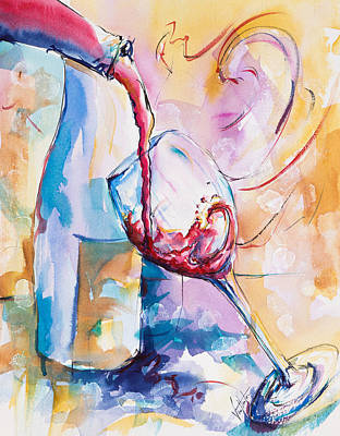 Sunset Wine Original by Adam VanHouten