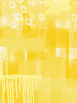Yellow Painting - Sunshine- Abstract Art by Linda Woods