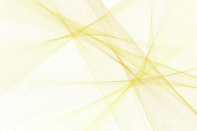 Sunshine Computer Graphic Line Pattern Print by Frank Ramspott