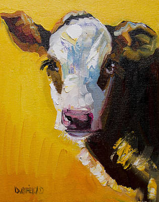 Painting - Sunshine Cow by Diane Whitehead