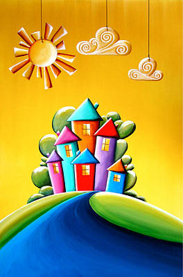 Sunny Painting - Sunshine Day by Cindy Thornton