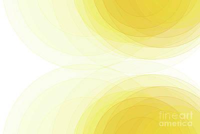 Digital Art - Sunshine Semi Circle Background Horizontal by Frank Ramspott