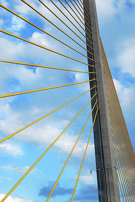 Sunshine Skyway Bridge Angle Print by Amanda Vouglas