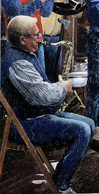 Sax Painting - Suoni by Guido Borelli