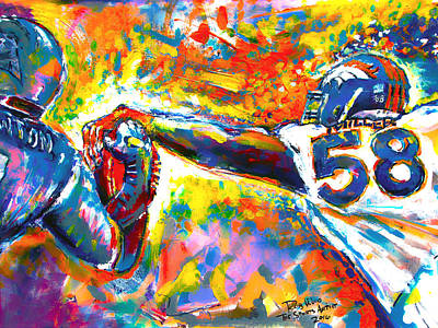 Super Bowl 50 Denver Broncos Print by Rob Wood
