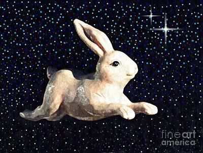 Rabbit Digital Art - Super Bunny by Sarah Loft