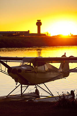 Super Cub At The End Of The Day Print by Tim Grams
