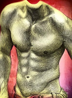 Male Digital Art - Super  by Mark Ashkenazi