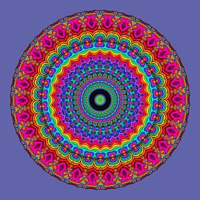 Super Rainbow Mandala Print by Ruth Moratz