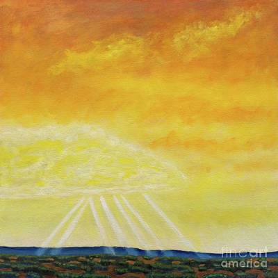 Rays Painting - Super Seven by Brian  Commerford