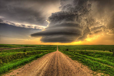 Supercell Highway - Arcadia Nebraska Print by Douglas Berry