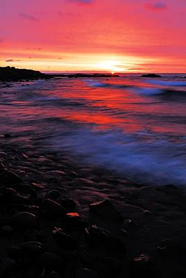Superior Sunrise Print by Larry Ricker