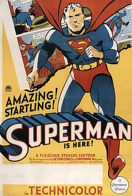 Superman, 1941 Print by Everett