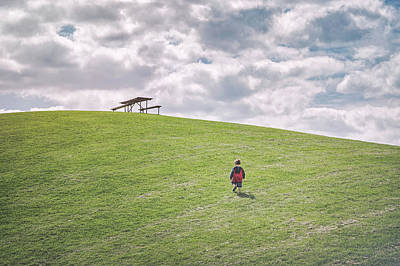 Youth Photograph - Superman And The Big Hill by Scott Norris