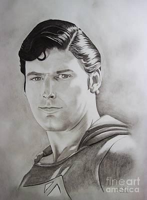 Dc Comics Drawing - Superman Circa 2007 by Lise PICHE
