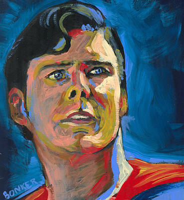 Comic Books Painting - Superman by Buffalo Bonker