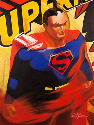 Super Hero Painting - Superman by Karl Melton