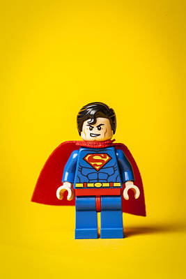 Lego Photograph - Superman - Man Of Steel by Samuel Whitton