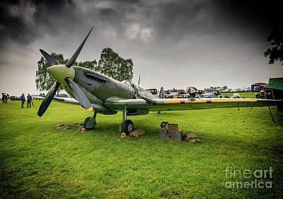 Airfield Photograph - Supermarine Spitfire by Adrian Evans