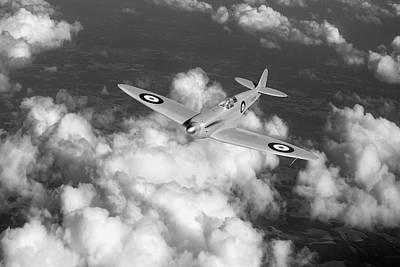 Prototype Digital Art - Supermarine Spitfire Prototype K5054 Black And White Version by Gary Eason